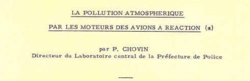 La Pollution Atmosphérique par les Avions