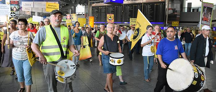 250th Monday demonstration in Frankfurt